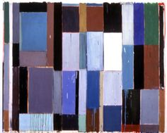 Pat Lipsky. Sea Breezes 48″ × 65 1⁄4″ 1999 Collage, oil, and alkyd on canvas
