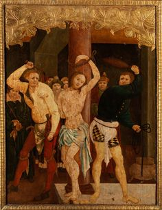 GEIßELUNG CHRISTI Öl auf Weichholz. 131 x 98,5 cm. Außenrahmen später. Beigegeben Fachdokumentation der Restaurierwerkstatt mit zahlreichen Detailaufnahmen...