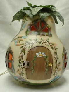 Gourd Light Up Fairy Spring Garden Cottage Hand by FromGramsHouse