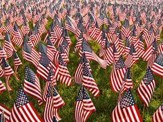 Military Heroes Garden of Flags, Boston Common, Massachusetts