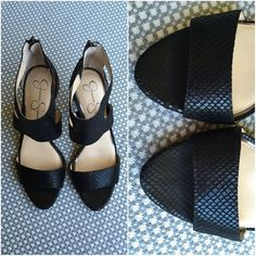 Jessica Simpson Snake Suede Heels GORGEOUS • Bought but never worn • In MINT CONDITION • These are PERFECT for any occasion • Size 10 • Fit true to size • Black • GREAT BUY • A little negotiable on price • FAIR OFFERS please • Jessica Simpson Shoes Heels