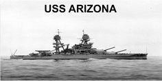 USS Arizona Battleship Photo License Plate