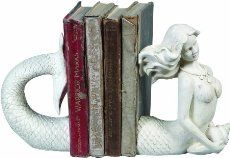 mermaidhomedecor - Cream Resin Mermaid Bookends $29.99