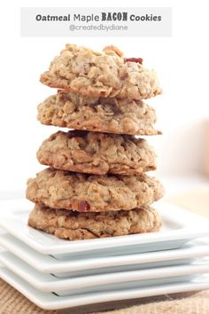 oatmeal maple bacon cookie recipe idk if ill ever do this but sounds yummy ahah Maple Bacon Cookie Recipe, Bacon Cookies, Yummy Cookies, Cookie Desserts, Just Desserts, Cookie Recipes, Dessert Recipes, Picnic Recipes, Picnic Ideas