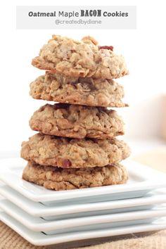 oatmeal maple bacon cookies