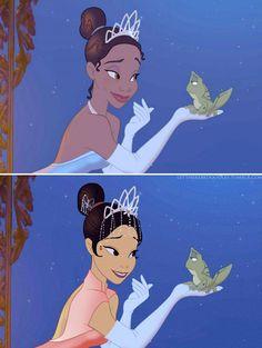 Disney princesses portraited in different ethnicities - Tiana