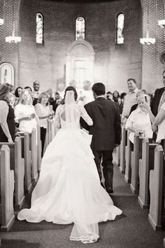 must have wedding photos bride with father walking down the aisle photo from behind rebecca yale photography