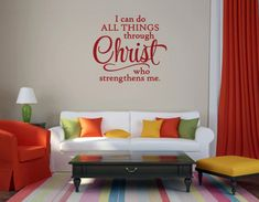 Christian Wall Decal. I Can Do All Things  by WeAreVinylDesigns, $20.00