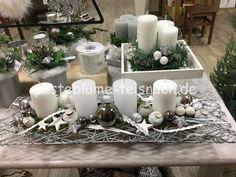 Advent - Pusteblume - Floristik & mehr Christmas Crafts, Christmas Decorations, Table Decorations, Christmas Home, Floor Lamp, Centerpieces, December, Diy, Inspiration