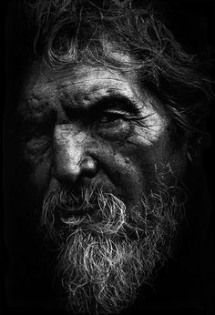 """Photograph of a 42 year-old Cherokee Native American man who had been living homeless on the streets of Los Angeles for 17 years. He was quoted as saying: """"Being homeless is better than living on a reservation."""""""