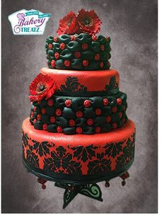 Wedding cakes - Interesting concepts to form a really impressive. teal wedding cakes dark brilliant and stunning example status generated on this day 20181215 Pretty Cakes, Cute Cakes, Beautiful Cakes, Amazing Cakes, Teal Cake, Creative Cakes, Unique Cakes, Round Wedding Cakes, Cakes Plus