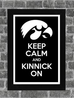 Keep Calm Iowa Hawkeyes NCAA Print Art 11x17