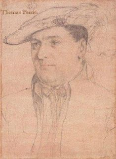 A sketch by Hans Holbein of Sir Thomas Parry c. 1538-40. http://beingbess.blogspot.com/2012/01/on-this-day-in-elizabethan-history.html