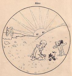 Emilie Locher-Werling /  's Klärli traumt es Märli Kinderbuch Ernst Waldmann Verlag (Zürich / Schweiz; 1933) ex libris MTP