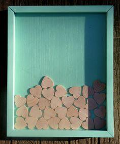 Unique Wedding Guestbook Alternative  Wooden Hearts  by cozygood, $147.00