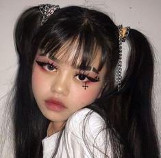 Grunge Eye Makeup, Punk Makeup, Anime Makeup, Edgy Makeup, Makeup Inspo, Makeup Art, Makeup Inspiration, Hair Makeup, Makeup Ideas