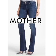 """MOTHER JEANS THE DAYDREAMER SKINNY FLARE LEG MOTHER JEANS THE DAYDREAMER SKINNY FLARE LEG JEANS in TEMPTED AGAIN. 65%Cotton/ 33%lyocell/ 2%elastane. Size 31 and Professionally hemmed to 31.5"""" Perfectly faded stretch denim shapes a pair of rich blue jeans styled with slim flared cuffs and signature seat-pocket embroidery. Bought at Notdstoms. I have 2 of the exact same pair. Bundle and save! Mother Jeans Jeans Flare & Wide Leg"""