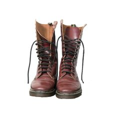 Vintage Oxblood Doc Martens - Dr Martens ❤ liked on Polyvore featuring shoes, boots, footwear, zapatos and filler