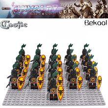 21PCS Black Knight FM Kingdoms Joust eagle shield armour lego minifigure costum