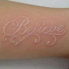 Awesome white tattoo!