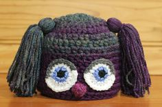 Monster Hat: AURA! | Available exclusively on Monster Hat Island! Check out all the one-of-a-kind crochet monster hats at monsterhatisland.com.