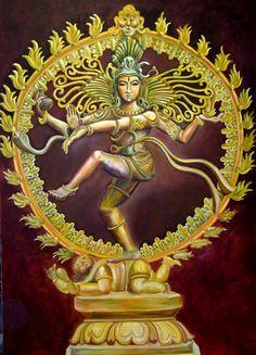 Nataraja, God, indian painting, hindu, allindiaarts, shiva, dance