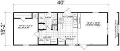 This model offers comfortable manufactured home living at an affordable price. The airy, centrally located kitchen opens to the living room and features Shed House Plans, Garage Floor Plans, Cottage Floor Plans, Cabin Floor Plans, Small House Plans, Storage Container Homes, Container House Plans, Ecommerce, Mobile Home Floor Plans
