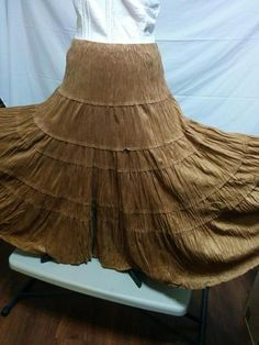 SALE! BUY IT NOW! Moleskin Hippie Peasant Skirt Coldwater Creek Size S Button Front Huge Sweep  | eBay
