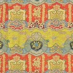 Clarence House DRAGON EMPRESS RED/YELLOW Fabric