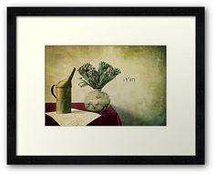 « Old watering can and romantic letter » by Thierry Wojtczak. Available for sale at http://www.redbubble.com/people/thierrywojtczak/shop