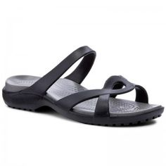 Papucs CROCS - Meleen Twist Sandal W 202497 Black/Smoke