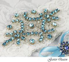 Bridal Garter Wedding Garter Set LIGHT IVORY by GarterQueen, $38.00