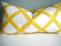 12x18 Lumbar Designer Pillow In Trellis by simplydivinebyjoann, via Etsy.
