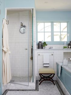 Walk-in showers are a practical, attractive choice for bathrooms large and small. Create a gorgeous walk-in shower with our tips on tile treatments, lighting, layout, storage, and more. #walkinshower #walkinshowerideas #bathroommakeover #showerideas #bhg Large Shower, Glass Shower, Small Shower Stalls, Bathroom Renos, Bathroom Flooring, Bathroom Layout, Basement Bathroom, Washroom, Bathroom Interior