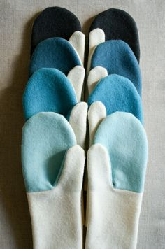 Simple Felted Wool Mittens | The Purl Bee