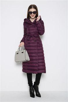 0bc1f7cd837f 2015 Black Green Red Purple Winter Coat Fashion Women Long Down Jacket Plus  Size Ladies Hooded Warm Elegant Outerwear Parka   Nice plus size clothing  shop ...