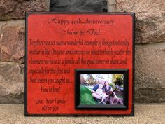 Personalized Anniversary Picture Frame Gift by YourPictureStory, $65.00