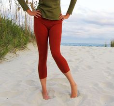 Pedal Simplicity Leggings stretchy hemp/organic by gaiaconceptions, $80.00