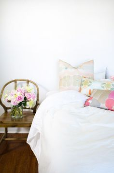 White bedroom with s