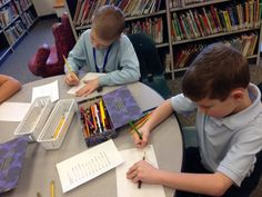 Students composed letters to send to pen pals at St. John of the Cross Parish School in Lemon Grove, CA.