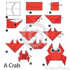 fácil crianças passo a passo step by step instructions how to make origami A Crab. step by step instructions how to make origami A Crab. Origami Design, Diy Origami, Origami Yoda, Dragon Origami, Origami Simple, Easy Origami For Kids, How To Make Origami, Origami Butterfly, Origami Folding