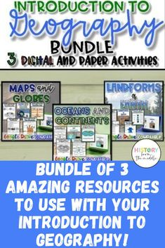 This is a SUPER collection of 3 amazing resources ALL on the introduction to Geography! Geography Interactive Notebook, Basic Geography, World Geography, Geography Activities, Social Studies Resources, Blended Learning, Educational Technology, Student Learning, Homeschool
