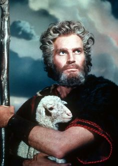 """Charlton Heston as: Moses from the famous movie """"The Ten Commandments."""" The Egyptian Prince, Moses, learns of his true heritage as a Hebrew and his divine mission as the deliverer of his people. Golden Age Of Hollywood, Vintage Hollywood, Hollywood Stars, Classic Hollywood, Epic Film, Epic Movie, The 10 Commandments Movie, Films Cinema, Actrices Hollywood"""