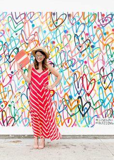 Multicolor Bleeding Hearts Love Wall by James Goldcrown // via @Jennifer_Lake #wallcharades