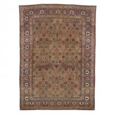 "Antique Kerman Wool Rug - 15'10""x22'3"""