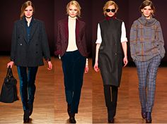 Paul Smith Fall 2012 - Love what he's doing with those midnight blue velvet pants and wonderful wool plaid on plaid!