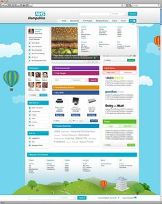 modern intranet design
