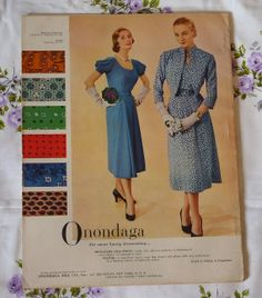 Vogue 7257 and 7271 in Vogue Pattern Book, February-March 1951 | Onondaga ad