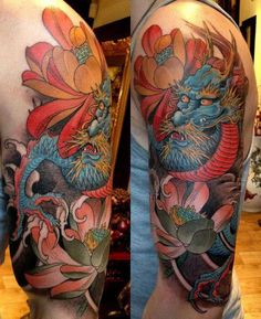 japanese dragon tattoo color meaning | tatuajes dragones