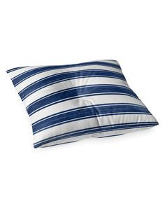 Nautical Stripe Square Floor Pillow by Kavka Designs at Gilt